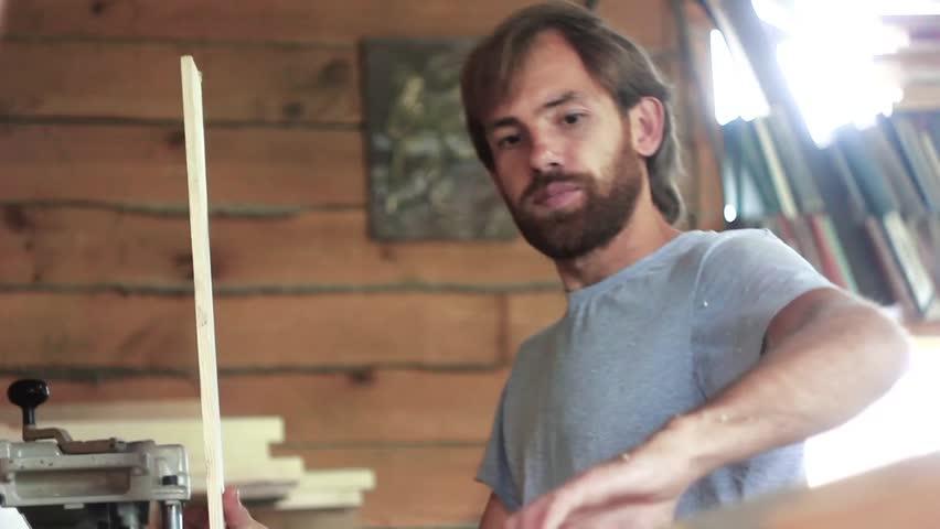 A worker tries on the Board | Shutterstock HD Video #18913070