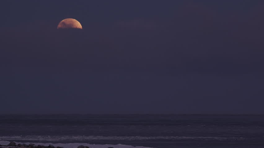 Full moon behind small cloud over frozen Hudson Bay at night - A001 C008 1029MQ 001 | Shutterstock HD Video #18914573