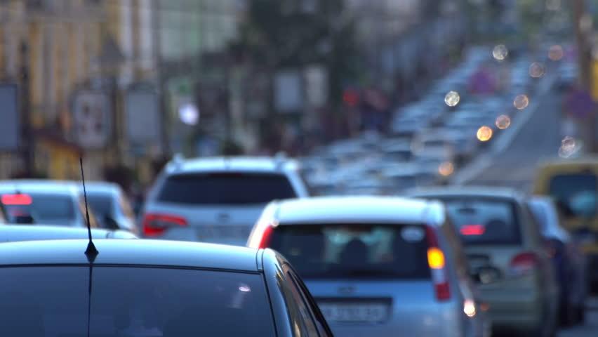 Traffic jam . Close-up moving . | Shutterstock HD Video #18918614