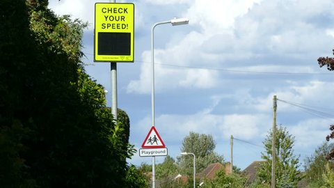 Check your speed flashing warning sign.