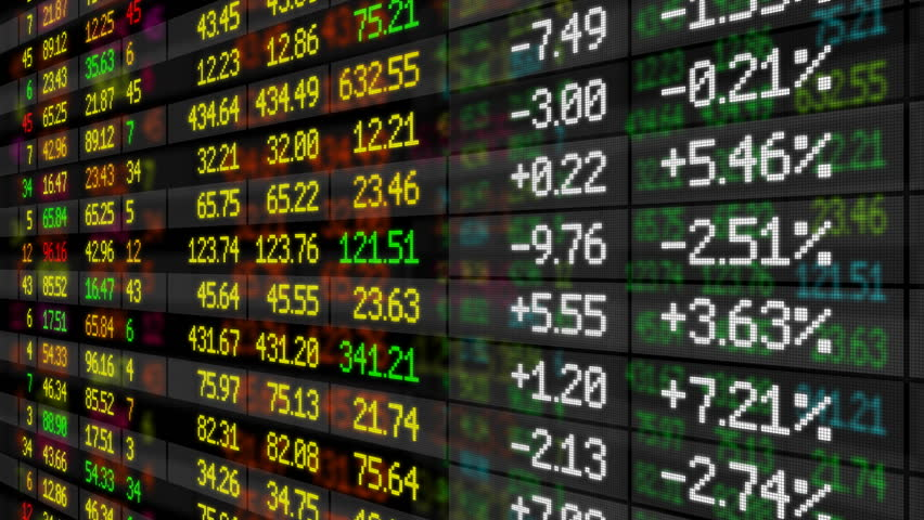 Stock Market board moving up. HD 1080. Looped animation. | Shutterstock HD Video #1896979