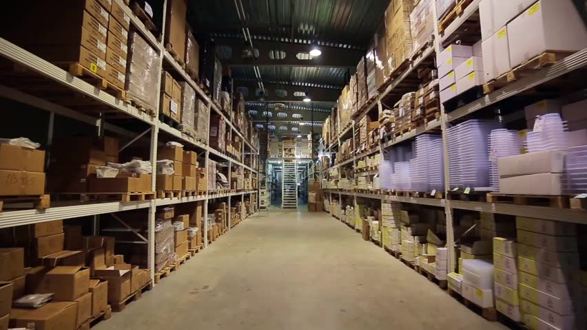Warehouse different materials. Shelves with different materials.  | Shutterstock HD Video #18970072
