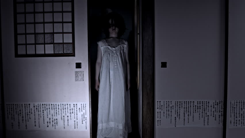 4k Halloween Shot of a Child Appearing in the door from darkness | Shutterstock HD Video #18998815