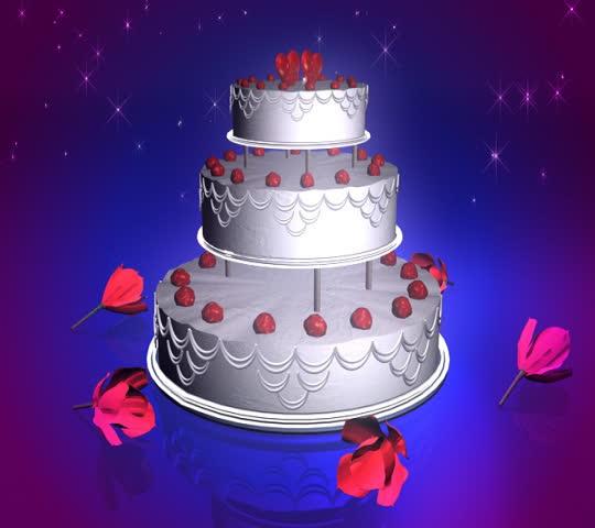 Marvelous Animated Rotating Wedding Cake Stock Footage Video 100 Funny Birthday Cards Online Alyptdamsfinfo