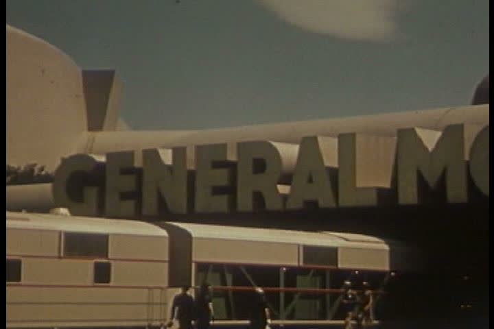 Footage of the General Motors pavilion at the 1939 New York World's Fair. (1930s)