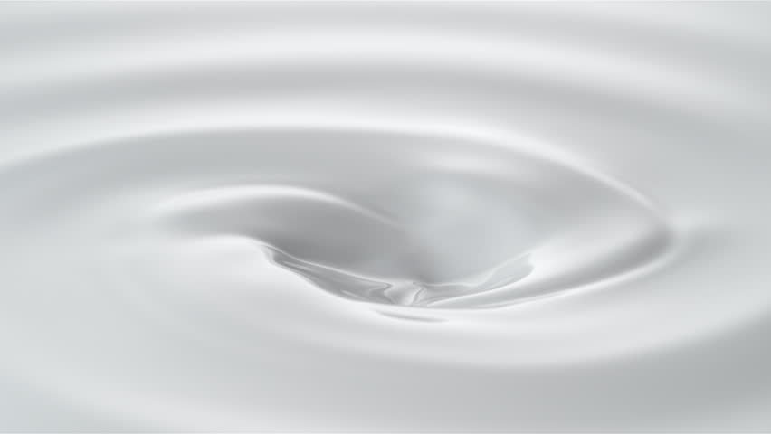 Milk droplets falling into swirl of milky liquid. Shot with high speed camera, phantom flex 4K. Slow Motion. Unedited version is included at the end of clip. #19045960
