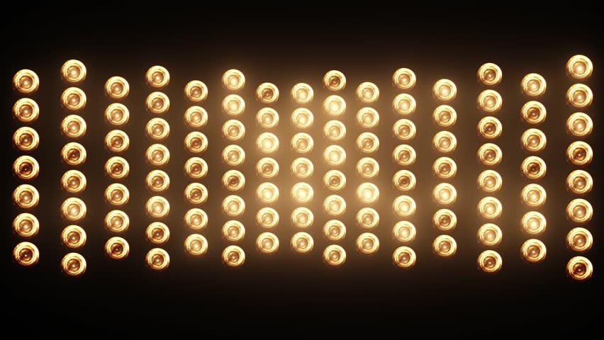 Wall of Lights Flicking and Blinking Spotlights | Shutterstock HD Video #19049305