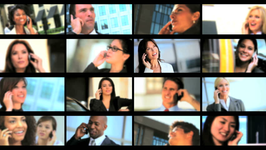 Multiple montage images of individual ambitious young business people using smartphone technology to achieve success   Shutterstock HD Video #1905100
