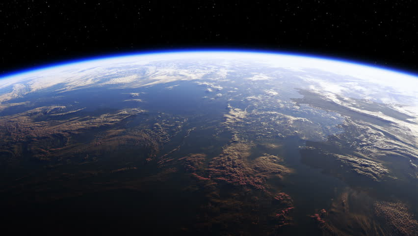 Amazing View Of Planet Earth From Space. Realistic 3d Animation. Ultra High Definition. 4K. 3840x2160. Seamless Looped. | Shutterstock HD Video #19056517