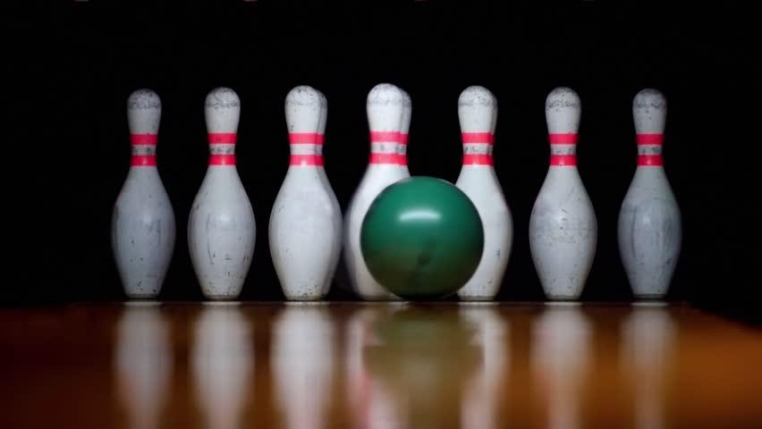 HD - Bowling. Strike. Slow-mo #19075045