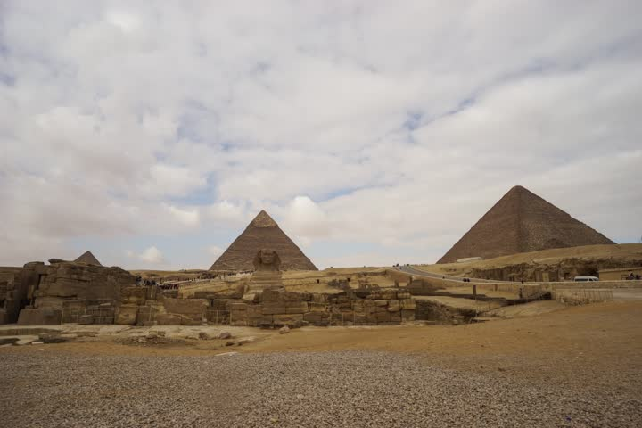 Sphinx and pyramid | Shutterstock HD Video #19085980