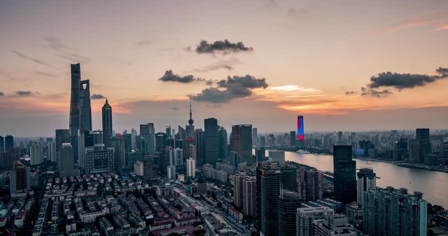 Shanghai Skyline Time lapse, August 2016   Shutterstock HD Video #19120519