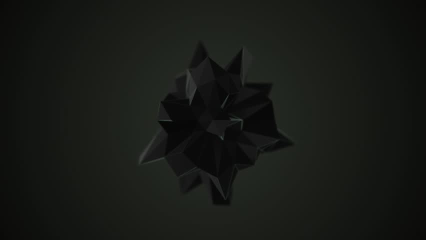 Abstract shape morphing with depth of field in the dark 3D render | Shutterstock HD Video #19125598