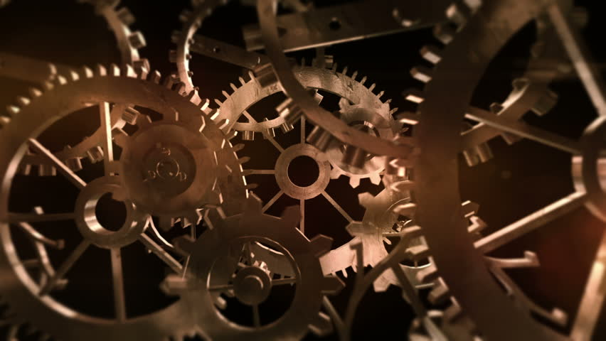3D Rusty Machine Gears. Computer generated machine parts. Seamless loop. Royalty-Free Stock Footage #19145929