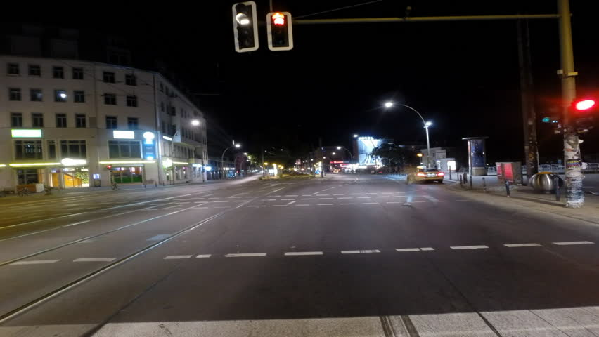 Timelapse POV (Point of View) driving shot through streets of Berlin at night in the summer | Shutterstock HD Video #19167556