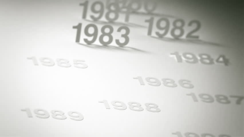 Simple Timeline Concept Animation: 1970s, 1980s and 1990s