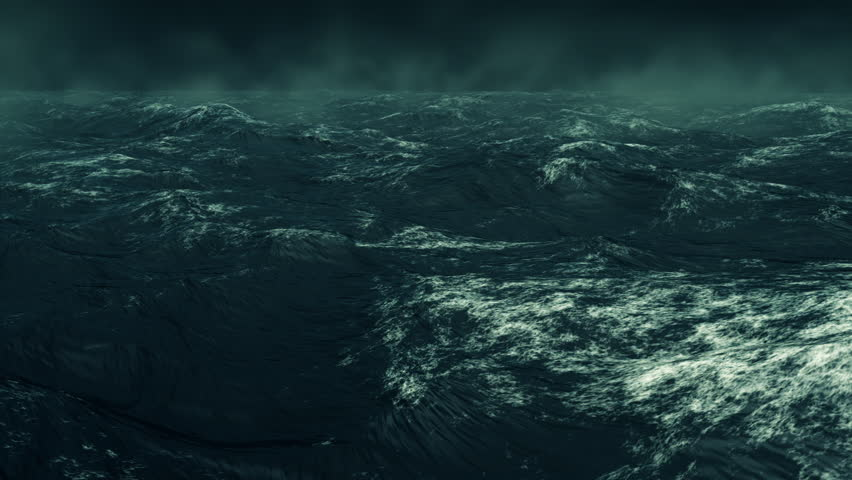 Computer Generated Stormy Rough Green Ocean | Shutterstock HD Video #19201720