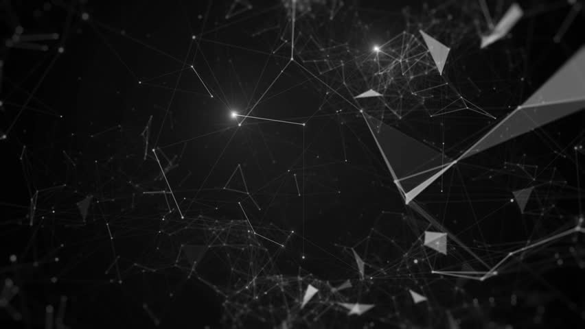 Abstract 3d background. Render of complex plexus structure with bright glow dots. Triangles and lines geometry. Loopable camera fly by. | Shutterstock HD Video #19228411