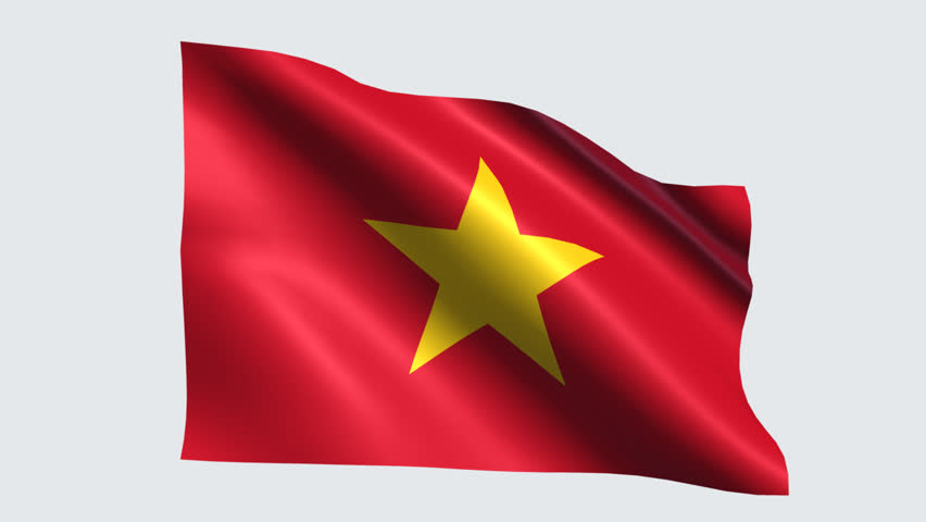 Vietnam Flag With Transparent Background Stock Footage Video 100 Royalty Free 19253041 Shutterstock
