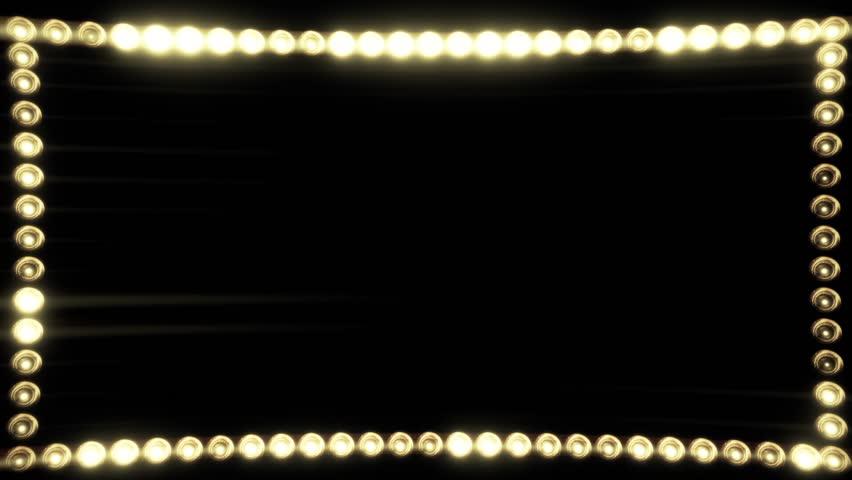 Frame of Light Bulbs for a Film Border #19262527