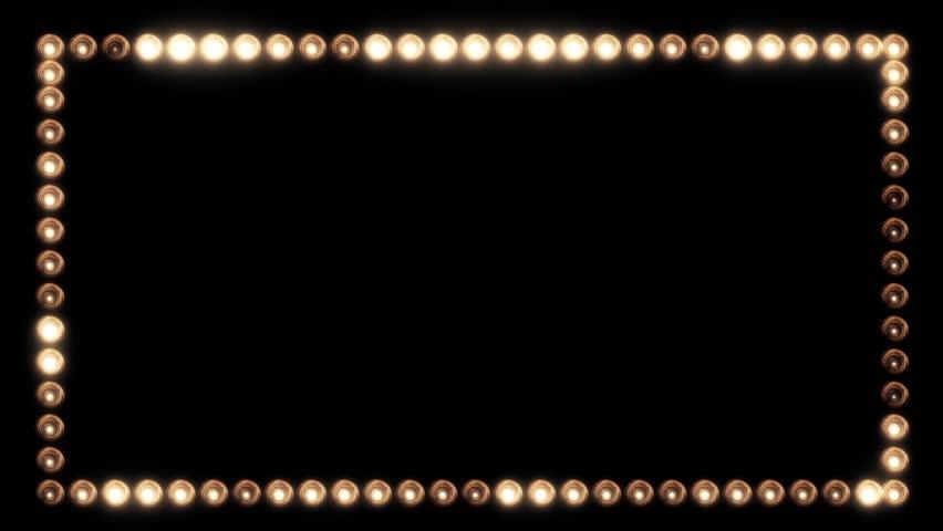 Frame of Light Bulbs for a Film Border #19262530