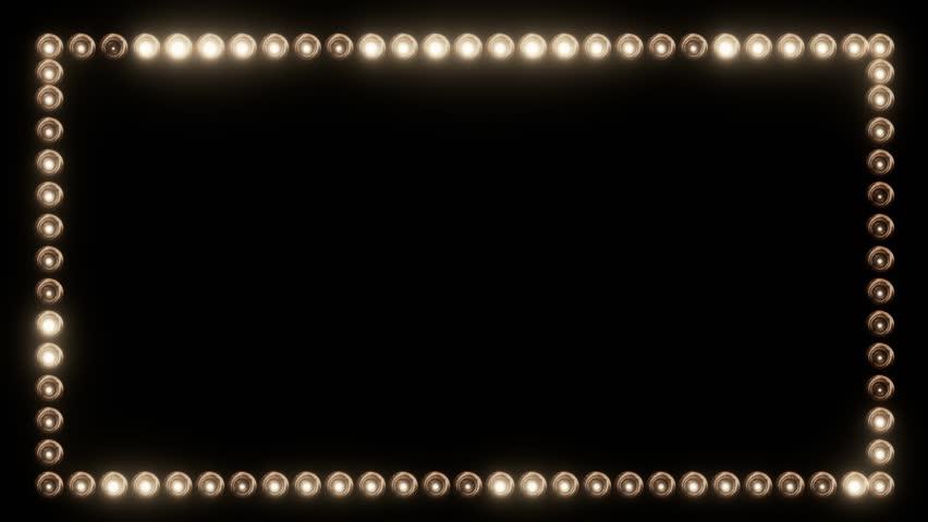 Frame of Light Bulbs for a Film Border | Shutterstock HD Video #19262533