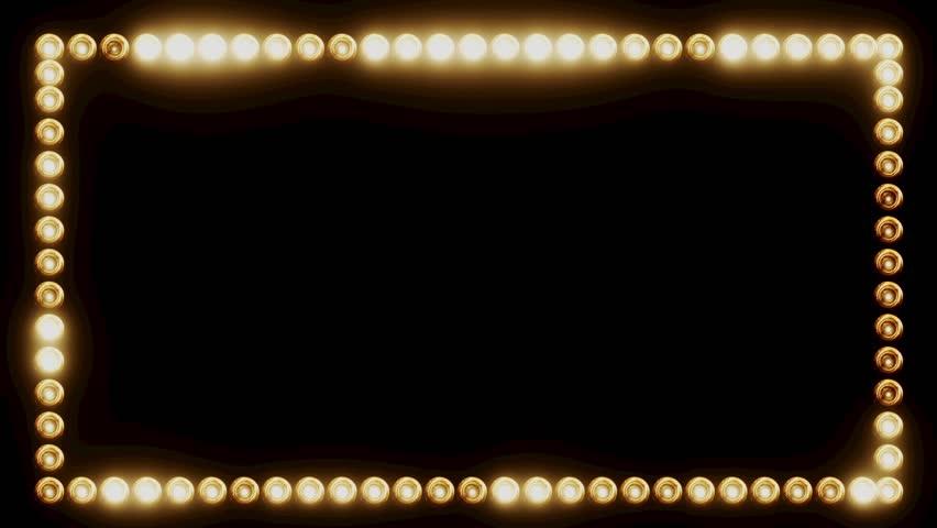 Frame of Light Bulbs for a Film Border #19262536