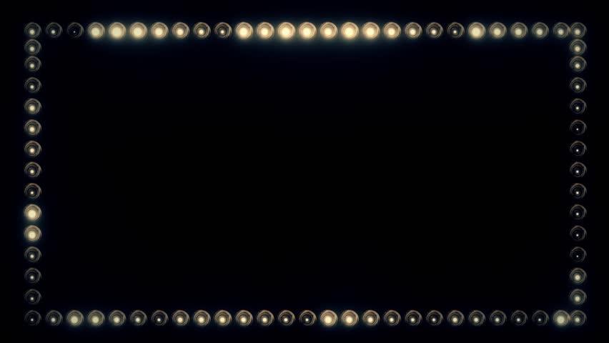 Frame of Light Bulbs for a Film Border #19262539