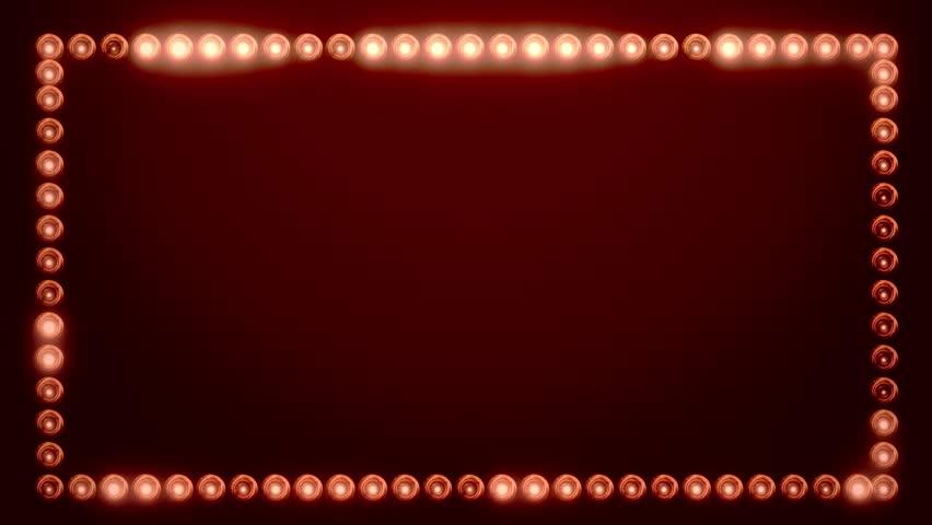 Frame of Light Bulbs for a Film Border #19262545