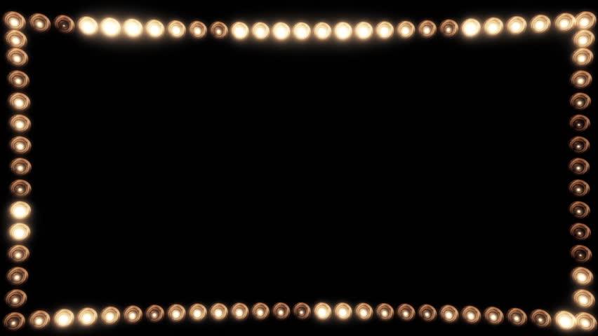 Frame of Light Bulbs for a Film Border #19262548