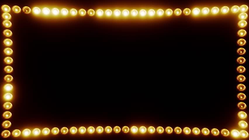 Frame of Light Bulbs for a Film Border #19262554