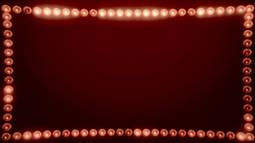 Frame of Light Bulbs for a Film Border #19262557