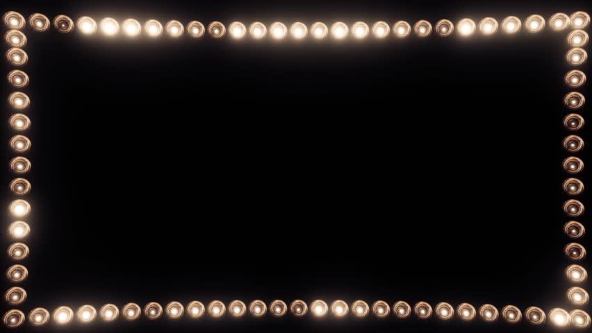 Frame of Light Bulbs for a Film Border #19262560
