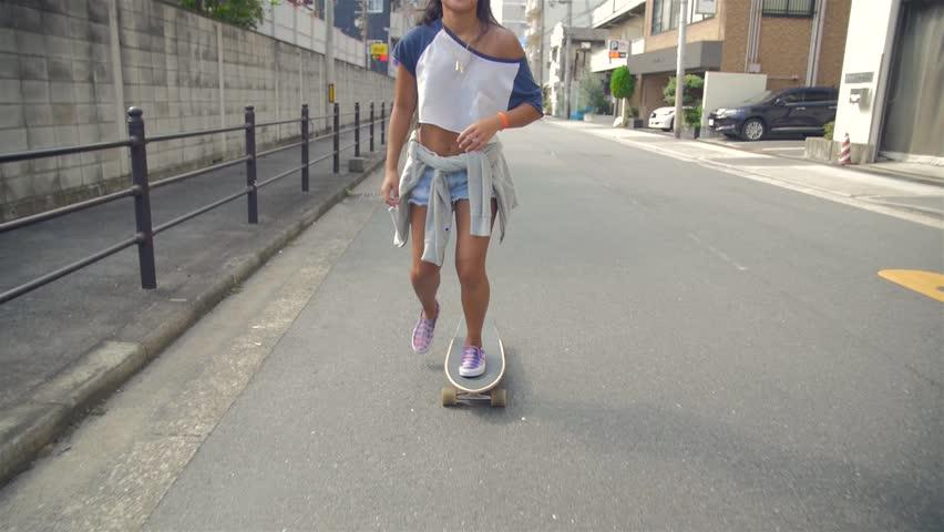 Image by Shutterstock Cool /& Trendy Skater Girl Women/'s Tee