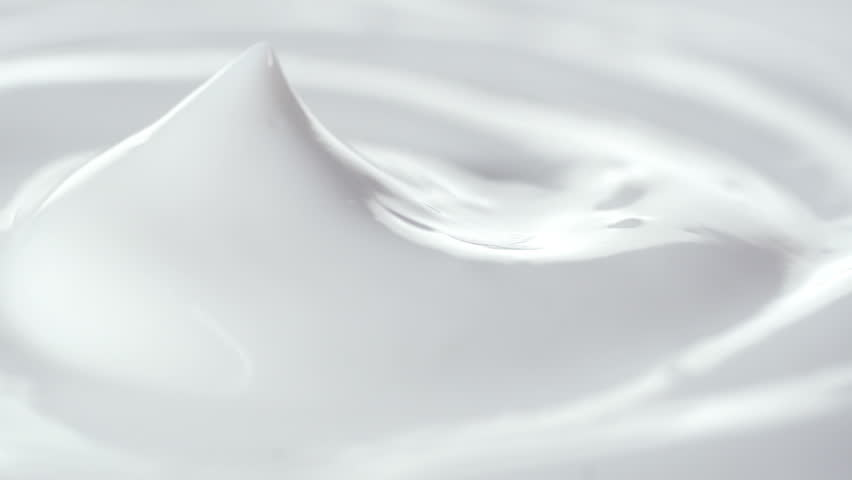 Closeup shot of cosmetics cream with rotate