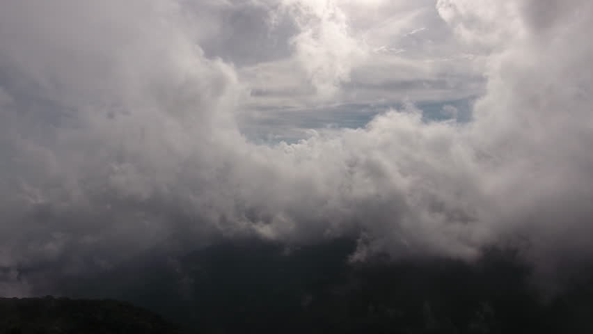 Aerial shooting from flying drone of a wonderful dramatic sky with grey clouds. Video with high quality resolution for presentation quality image on TV #19298170
