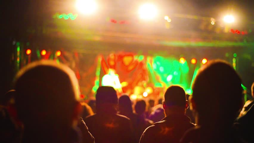 Intentionally blurred people viewing live concert - music, crowd, live concept | Shutterstock HD Video #19301707