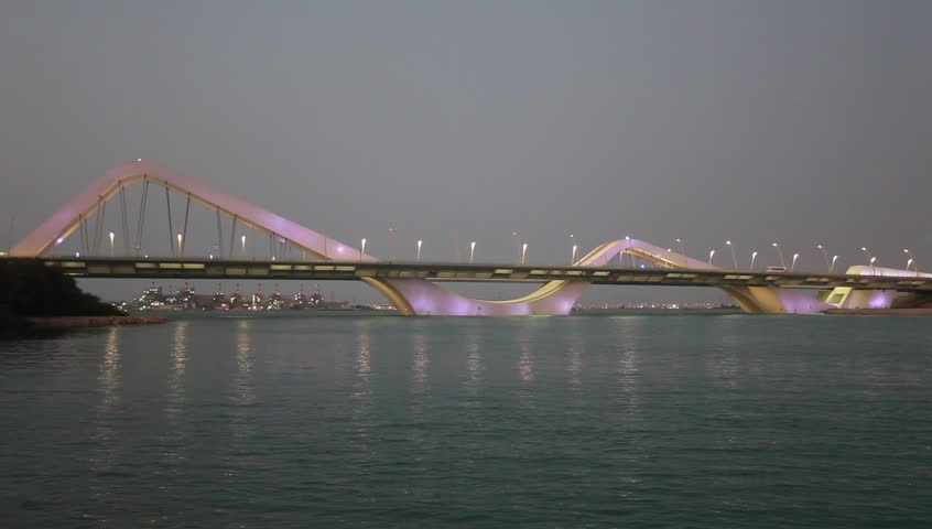 Sheikh Zayed Bridge in Abu Dhabi, United Arab Emirates