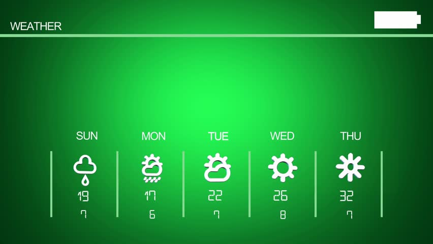 Weather application and symbols | Shutterstock HD Video #19352998