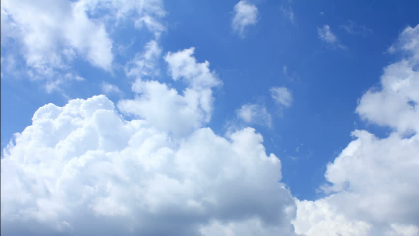 Fantastic time-lapse of moving clouds in the blue sky | Shutterstock HD Video #1935496