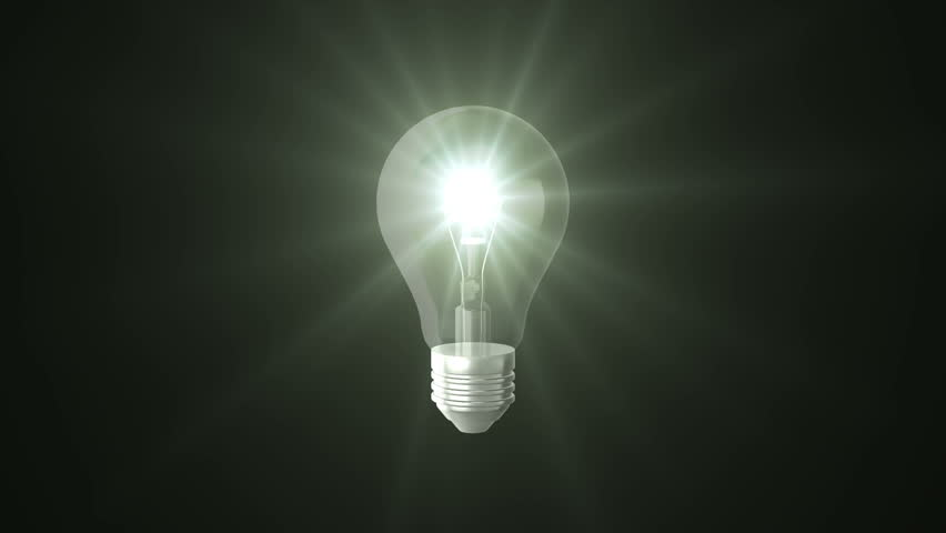 Light bulb on black background | Shutterstock HD Video #19374277