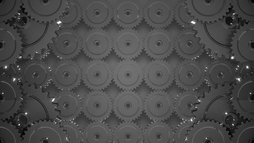 Wall of many gears. This animation is a seamless loop. | Shutterstock HD Video #1938016