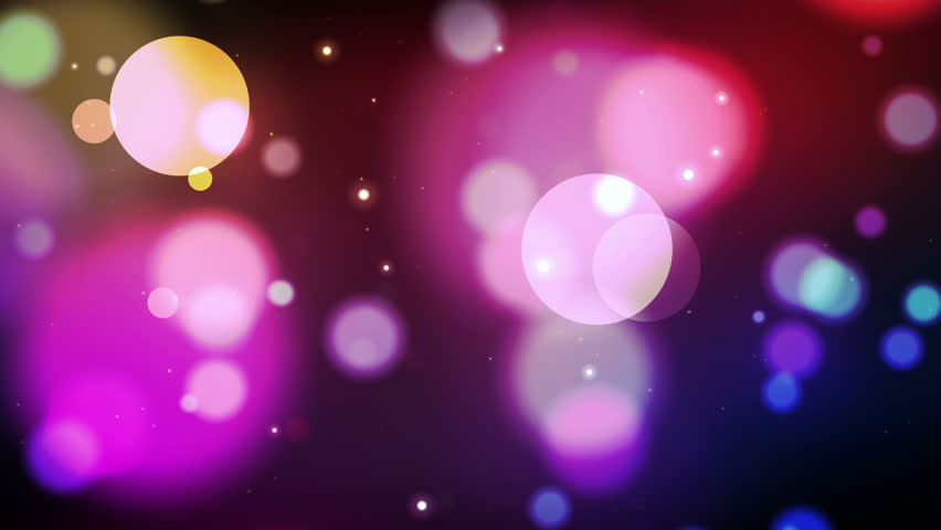 Random colorful light dots flash and sparkle. Seamless looping video animation.