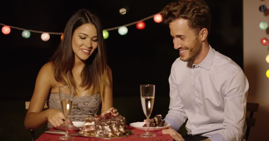 Playful man looking with anticipation at cake | Shutterstock HD Video #19411129