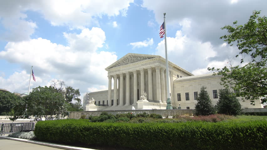 Washington DC - July 6th, 2016: Untied States Supreme Court shot on a bright summer day in Washington DC, no people