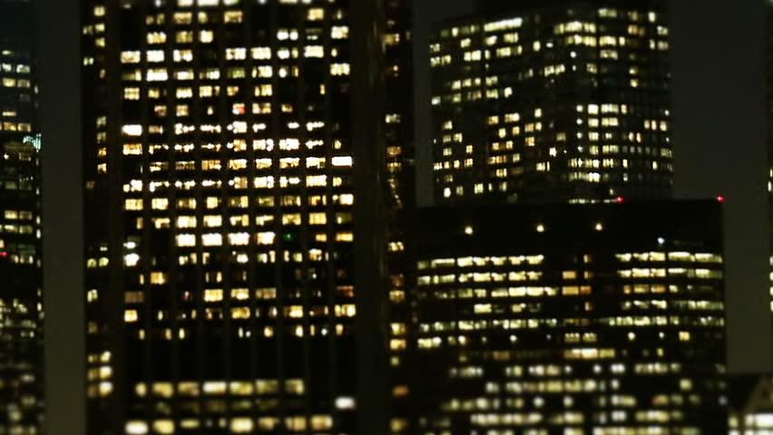 Tilt Shift Zoom- Downtown Los Angeles Skyline #1944925