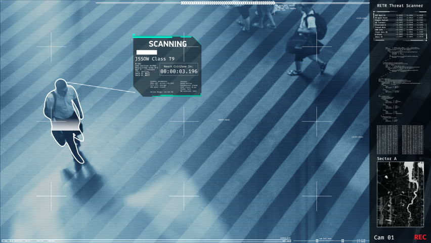 Security screening in public places, potential terrorists detection, scanning. Futuristic security scanner | Shutterstock HD Video #19453933