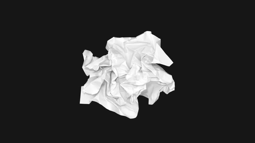 White Sheet Unfolds on Black Background. Album.Continuously Changing.Timelapse Stop Motion Animation