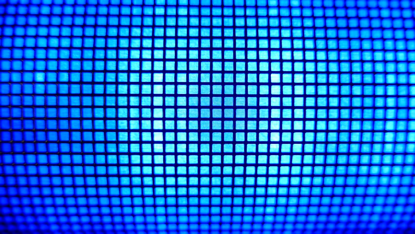4K Grid Blue Led Light Effects with Slight Depth of Field Vignette Effect | Shutterstock HD Video #19458559