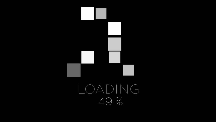 4K Computer Loading Sign Animation Black and White super flexible, loopable design and very easy to use.It can be colorized, the black BG can be transparent, can be looped and even more. #19458754